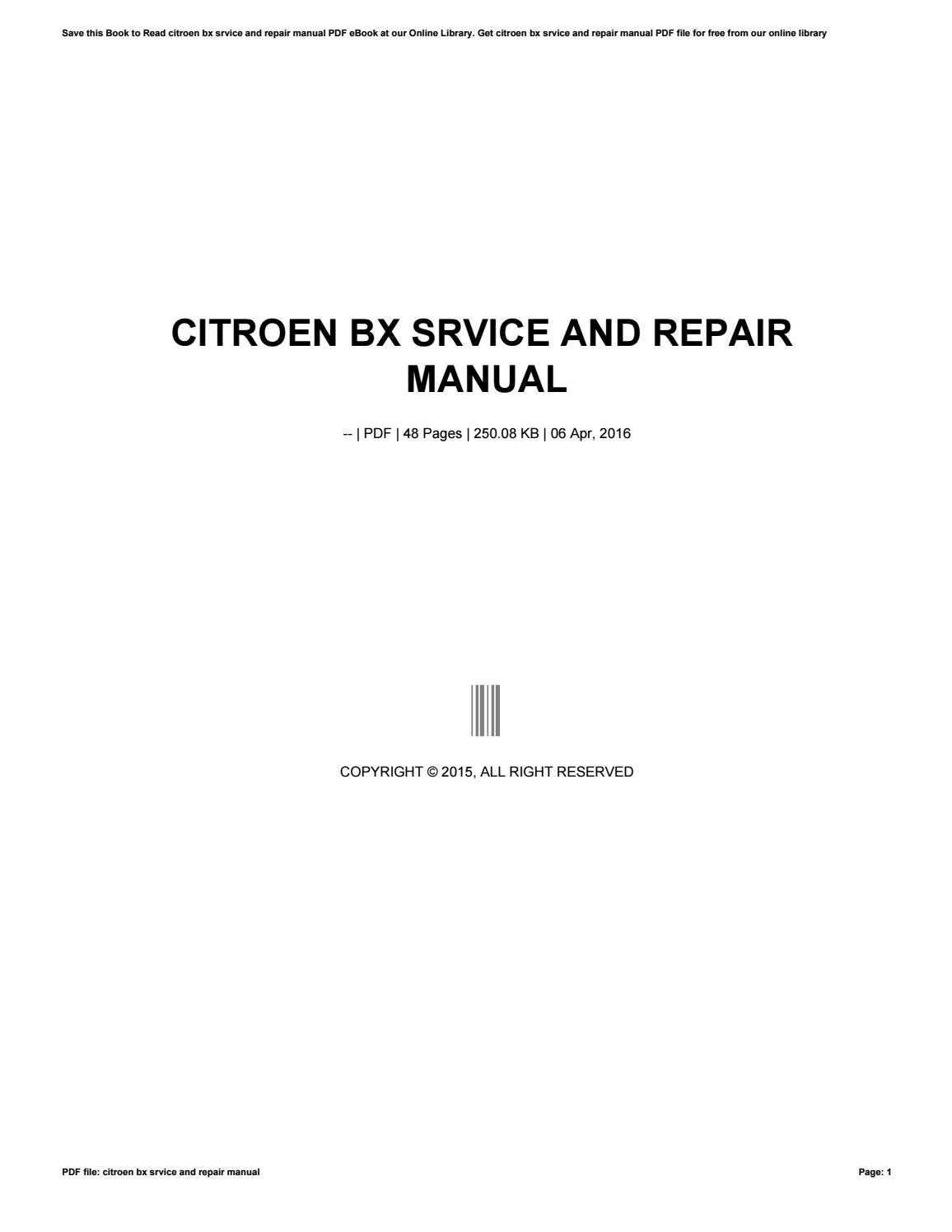 haynes manual for citroen bx ebook