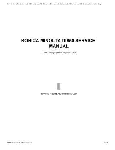 konica minolta di850 service manual by ziyap96 issuu rh issuu com