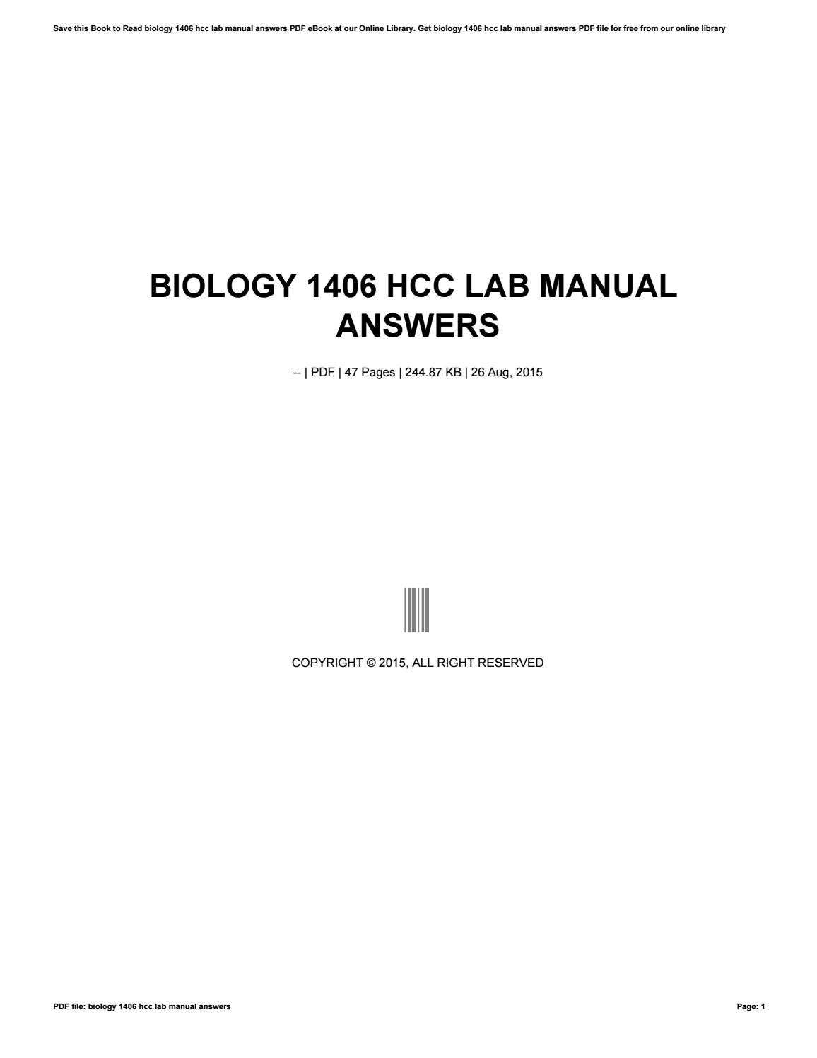 ... Array - general biology 1 lab manual answers 1406 ebook rh general  biology 1 lab manual