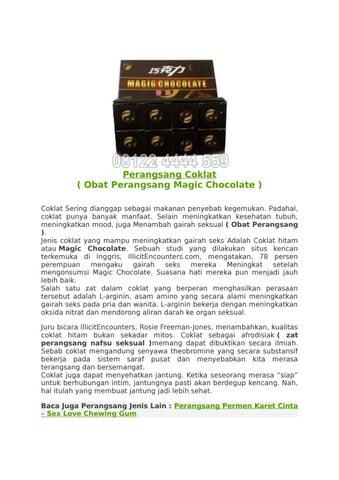 perangsang coklat obat perangsang magic chocolate di surabaya by
