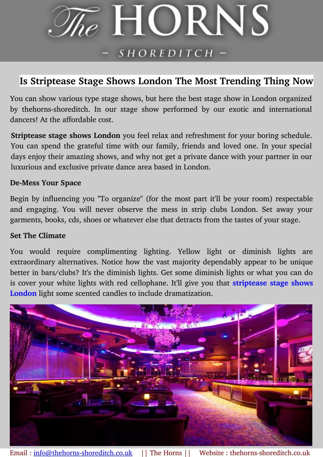Best Place Striptease Stage Shows London By