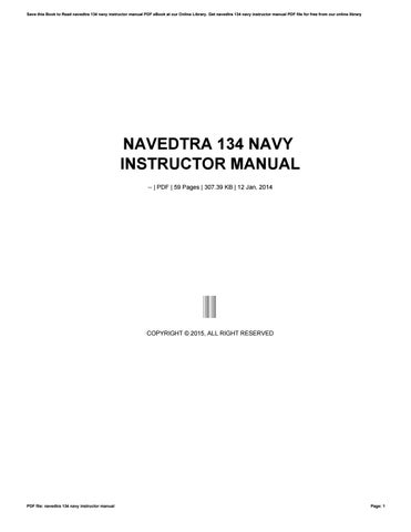 navedtra 134 navy instructor manual by balanc3r42 issuu rh issuu com Sample Instructor Manual Sample Instructor Manual