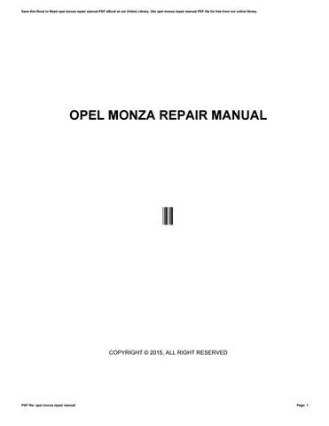 Opel astra g zafira repair manual haynes 2003 pdf by opel monza repair manual fandeluxe Image collections