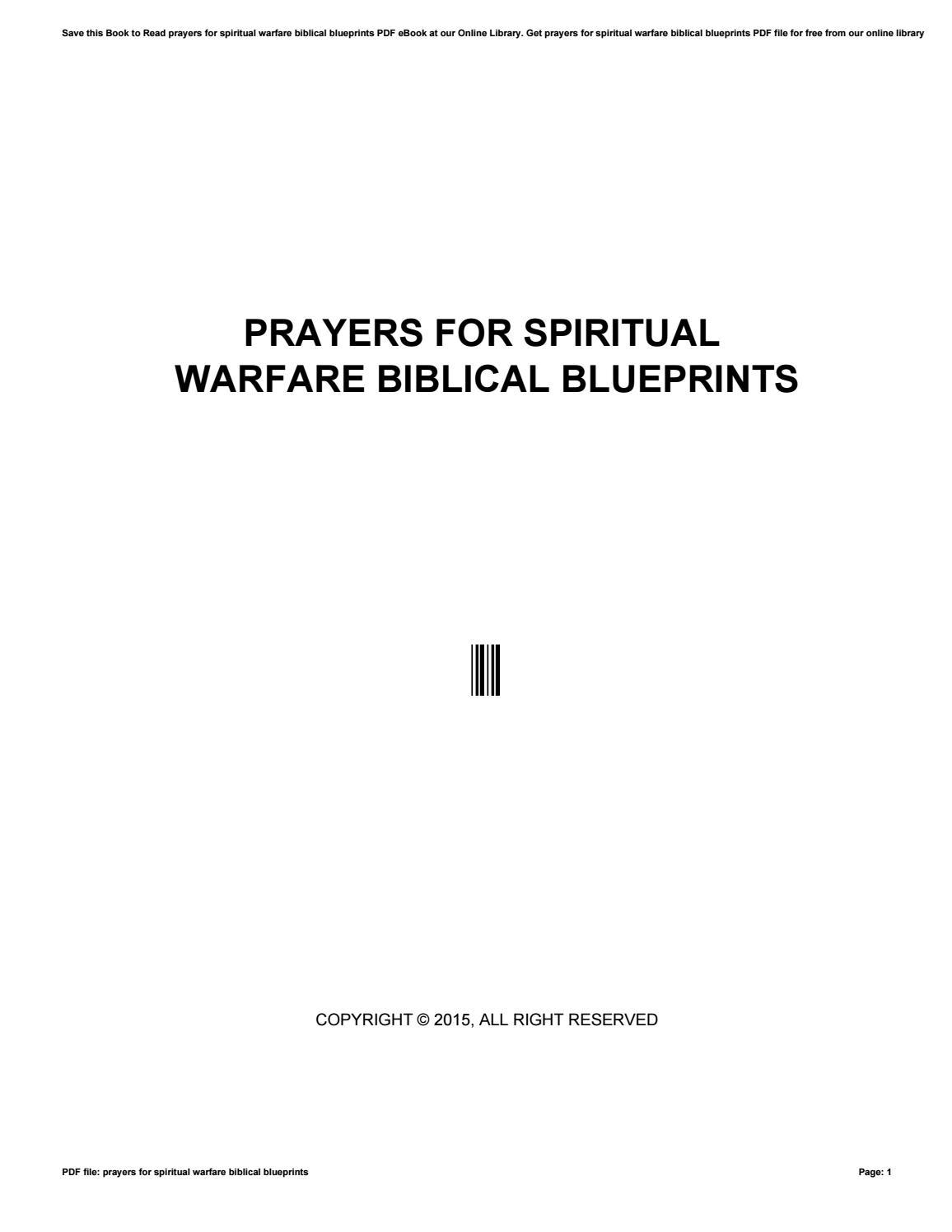 Prayers for spiritual warfare biblical blueprints by minex-coin29