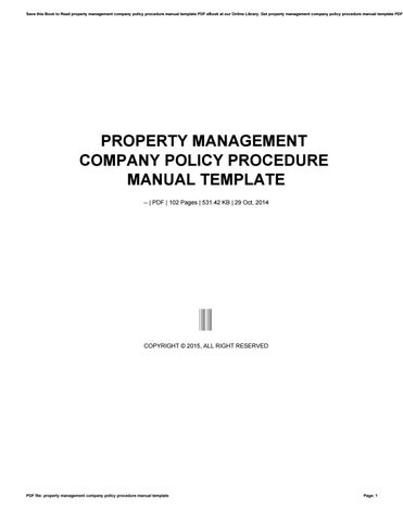 save this book to read property management company policy procedure manual template pdf ebook at our online library get property management company policy