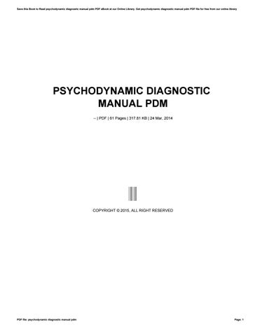 psychodynamic diagnostic manual pdm by muimail82 issuu rh issuu com psychodynamic diagnostic manual pdm 2 pdf psychodynamic diagnostic manual (pdm) pdf