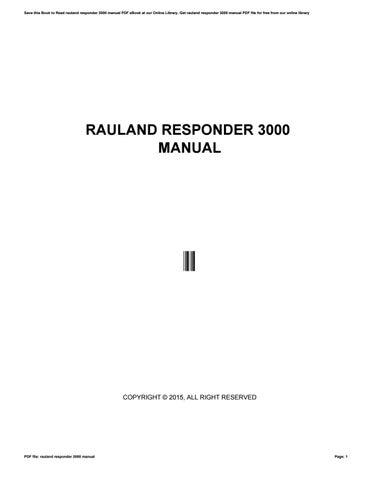 Rauland responder 3000 manual by crymail228 issuu.