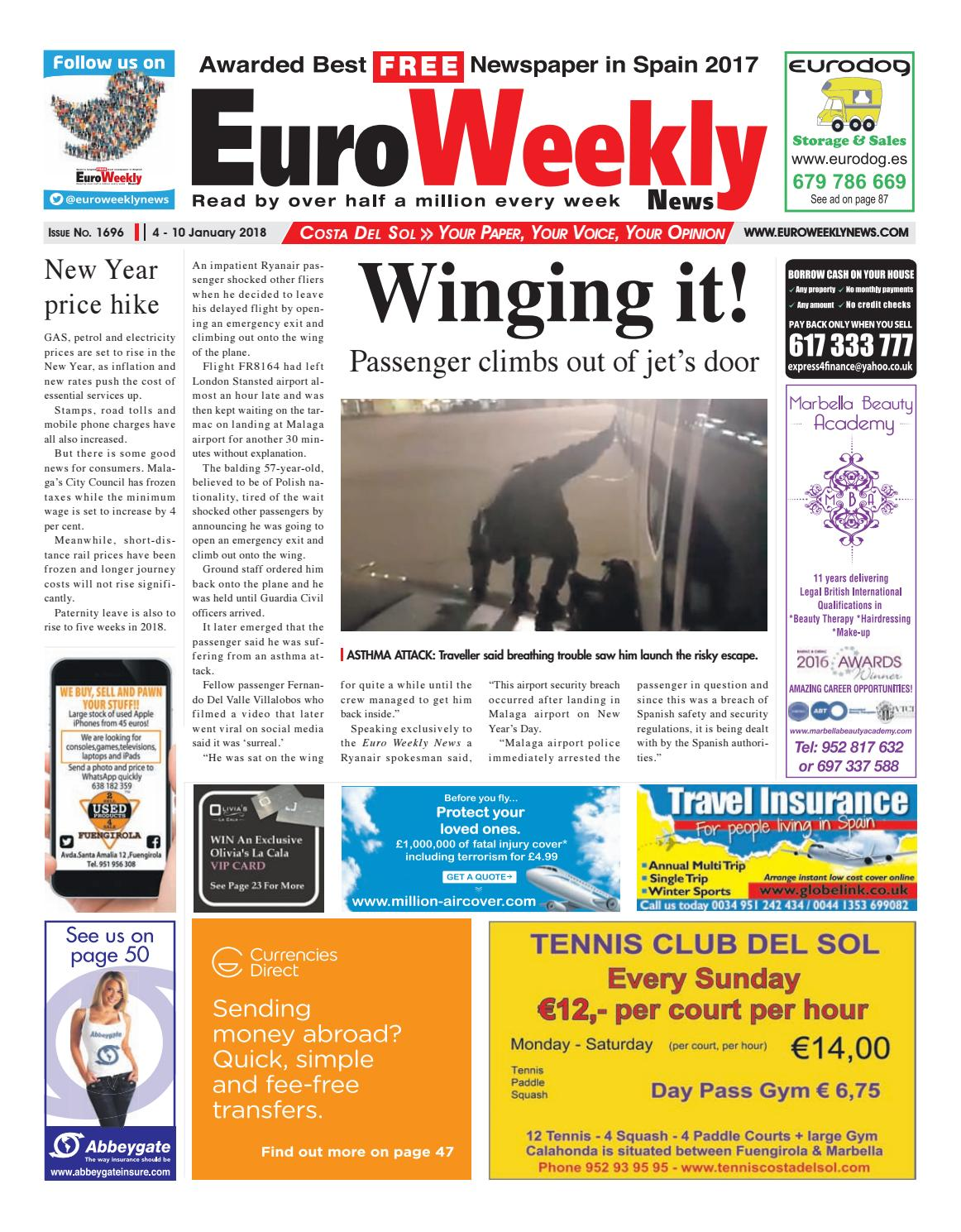 Euro Weekly News Costa Del Sol 21 27 December 2017 Issue 1694  # Fabrica De Muebles Wimpy