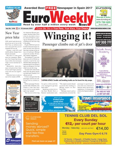 Euro weekly news costa del sol 4 10 jan 2018 issue 1696 by euro page 1 fandeluxe Images