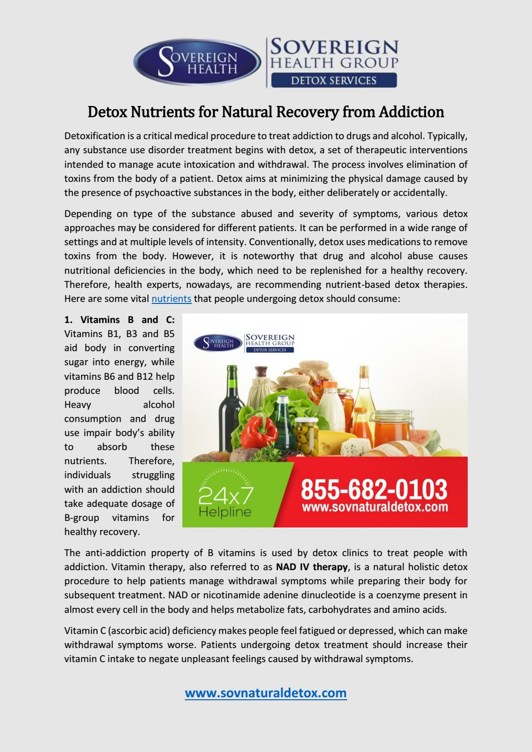 Detox Nutrients for Natural Recovery from Addiction by Sean