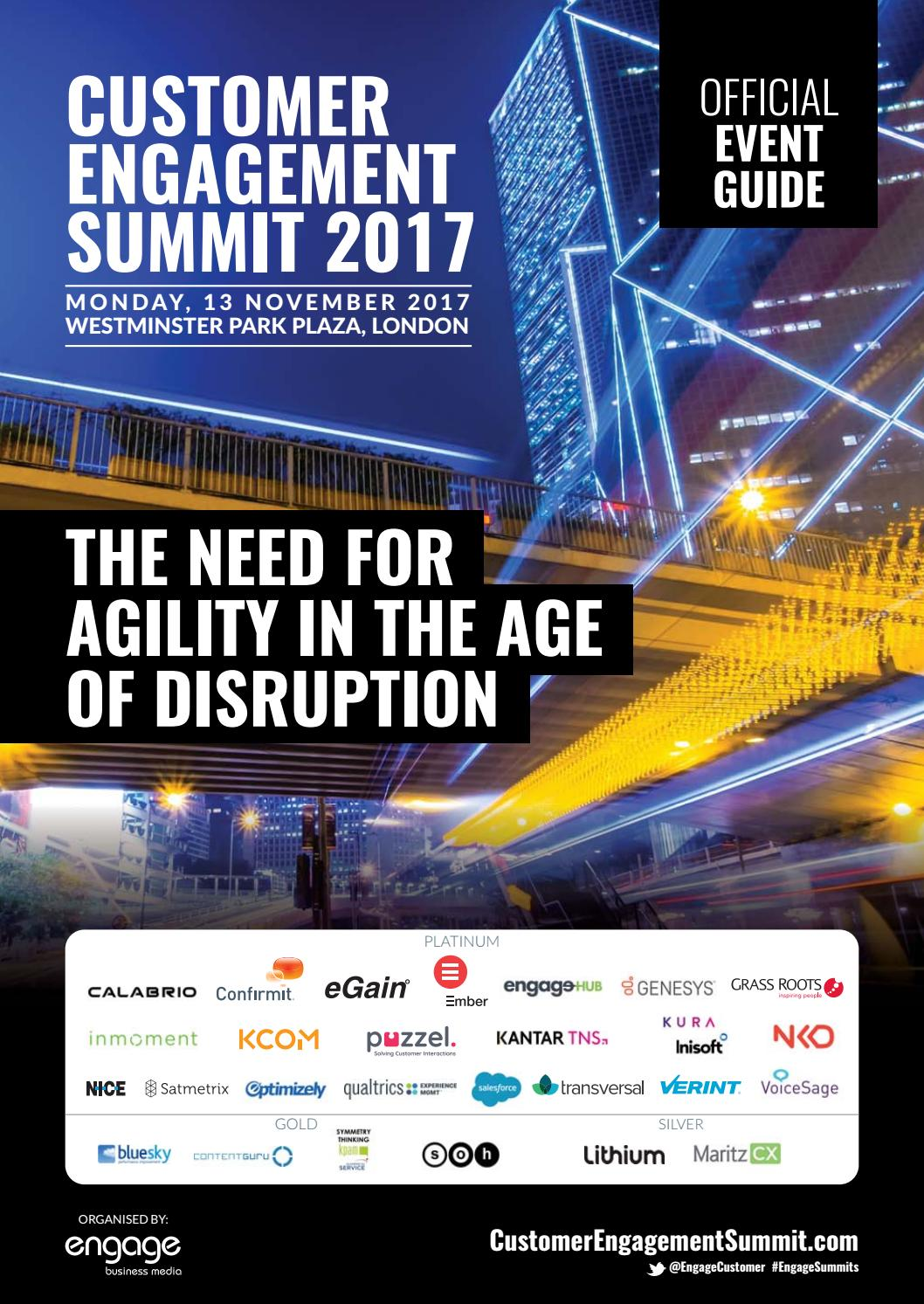 the latest 3ca51 9650e 2017 Customer Engagement Summit Event Guide by Engage Business Media - issuu