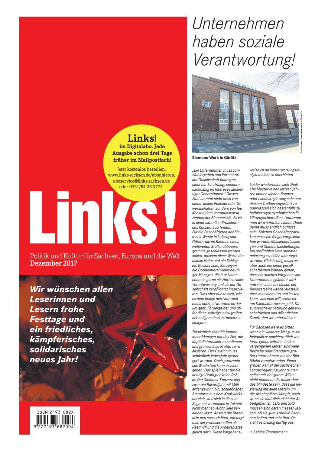 12/2017 by LINKS! Politik und Kultur für Sachsen, Europa und die Welt -  issuu