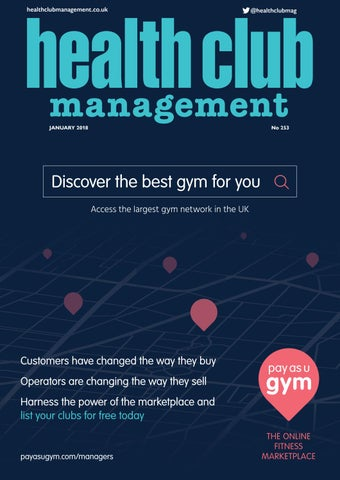 Health Club Management January 2018 By Leisure Media