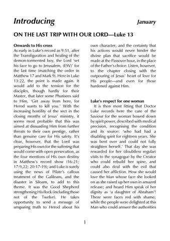Bible Studies Magazine Luke 13 -January 2018