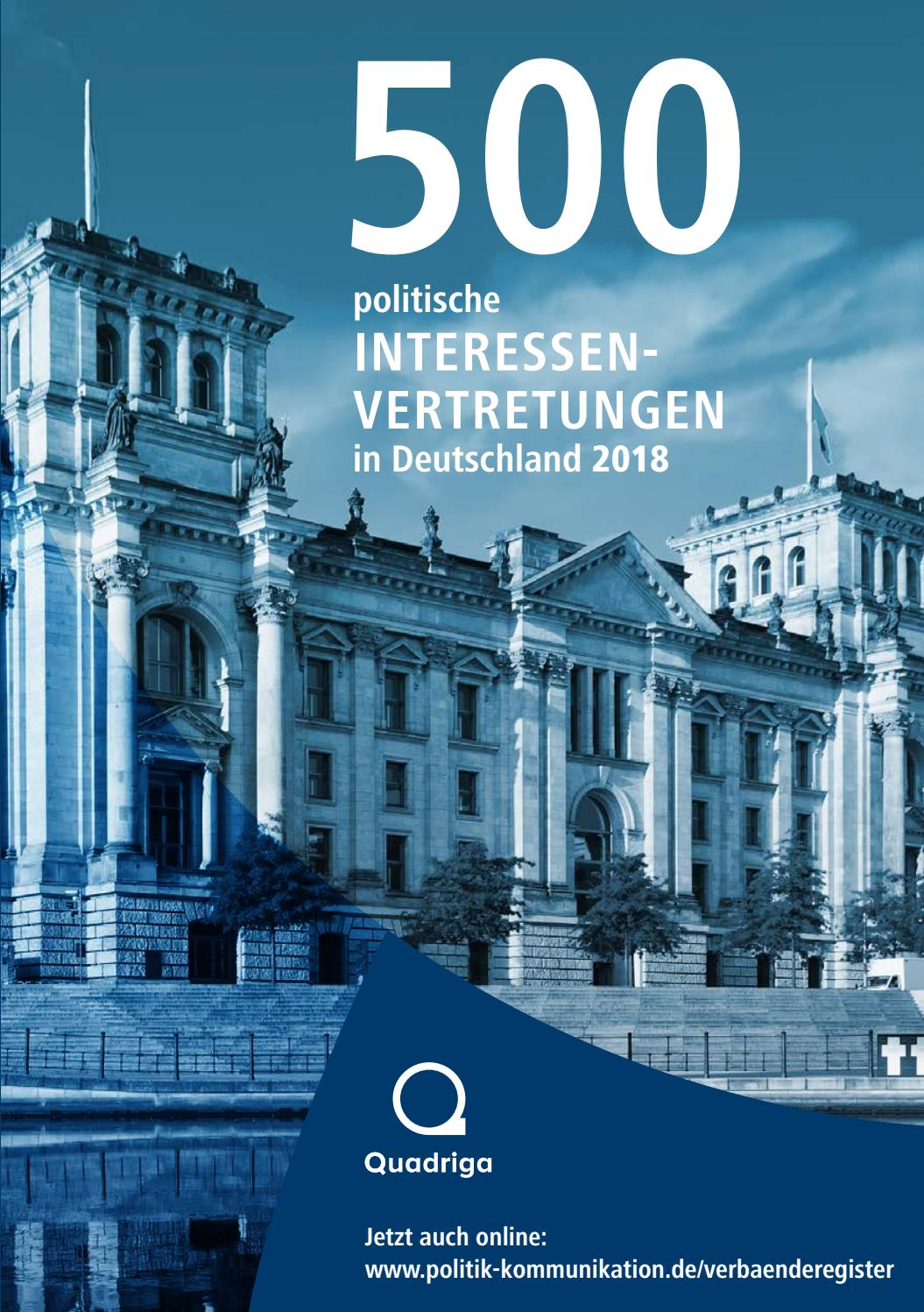 Jahrbuch 500 politische Interessenvertretungen 2018 by Quadriga ...