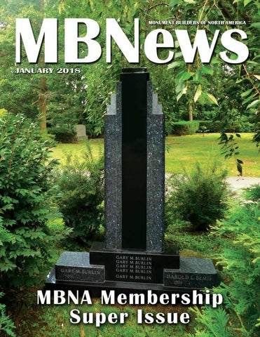 MBNews January 2018 by Monument Builders of North America