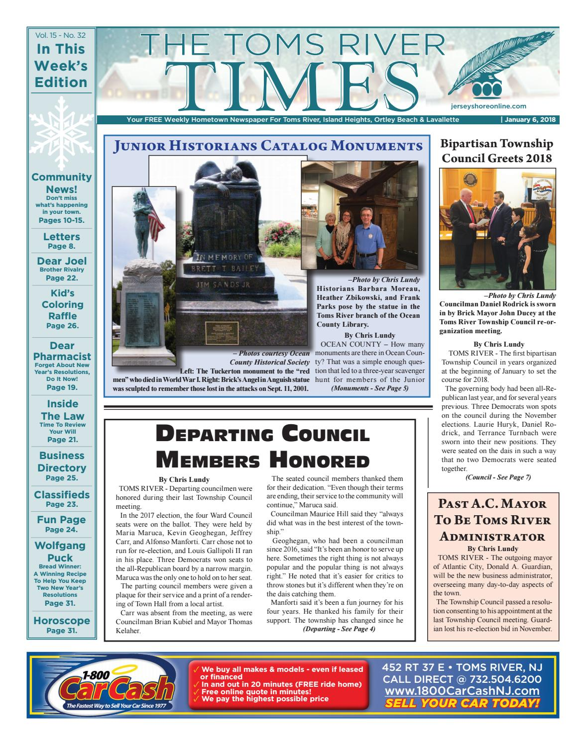 2018 01 06 The Toms River Times By Micromedia Publications Jersey Boat Tow Harness Walmart Shore Online Issuu