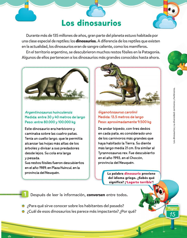 Herbivoros y los carnivoros dinosaurios