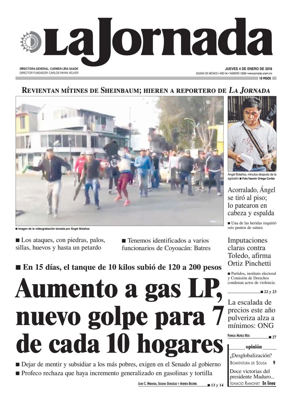 La Jornada, 01/04/2018 by La Jornada: DEMOS Desarrollo de Medios SA ...