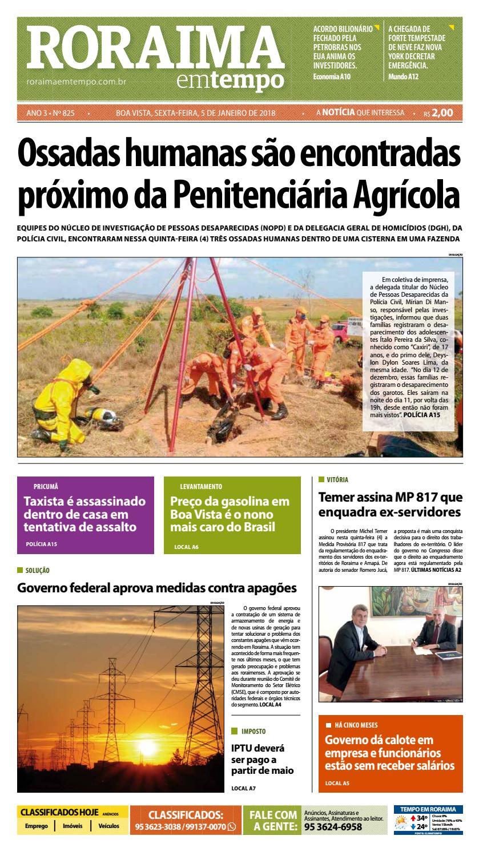 Jornal roraima em tempo – edição 825 by RoraimaEmTempo - issuu f81c6fe3c59db