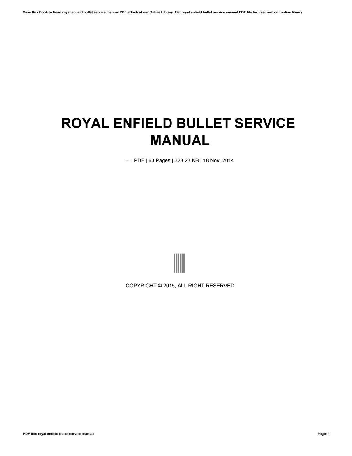 Royal Enfield Manual Pdf