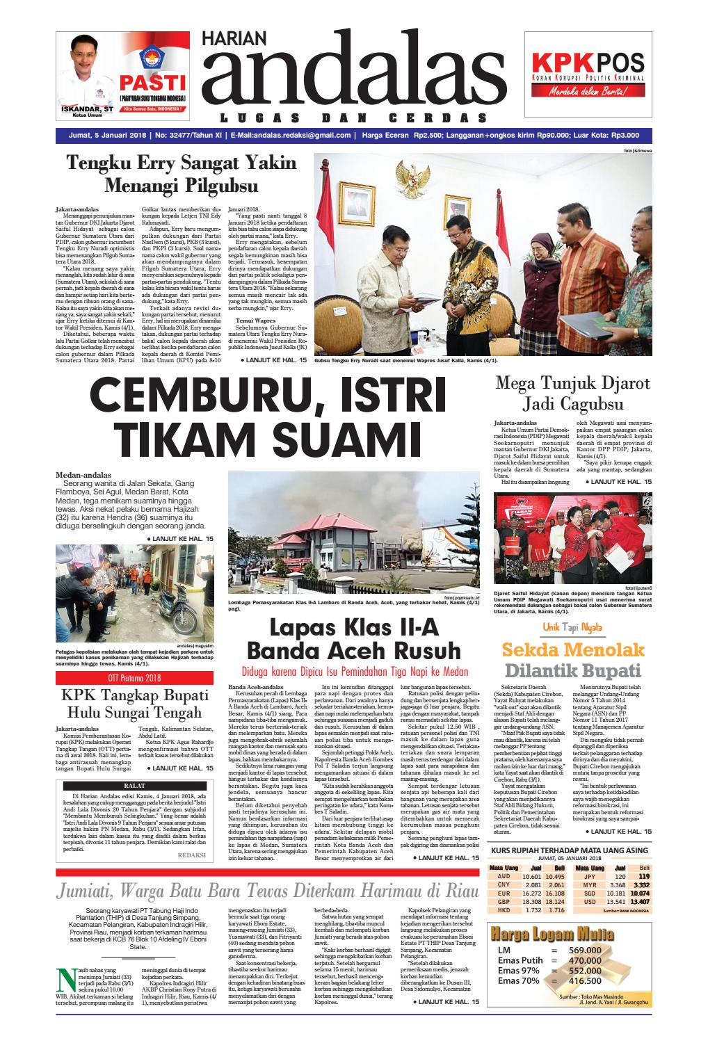 Epaper Andalas Edisi Jumat 5 Januari 2018 By Media Andalas Issuu