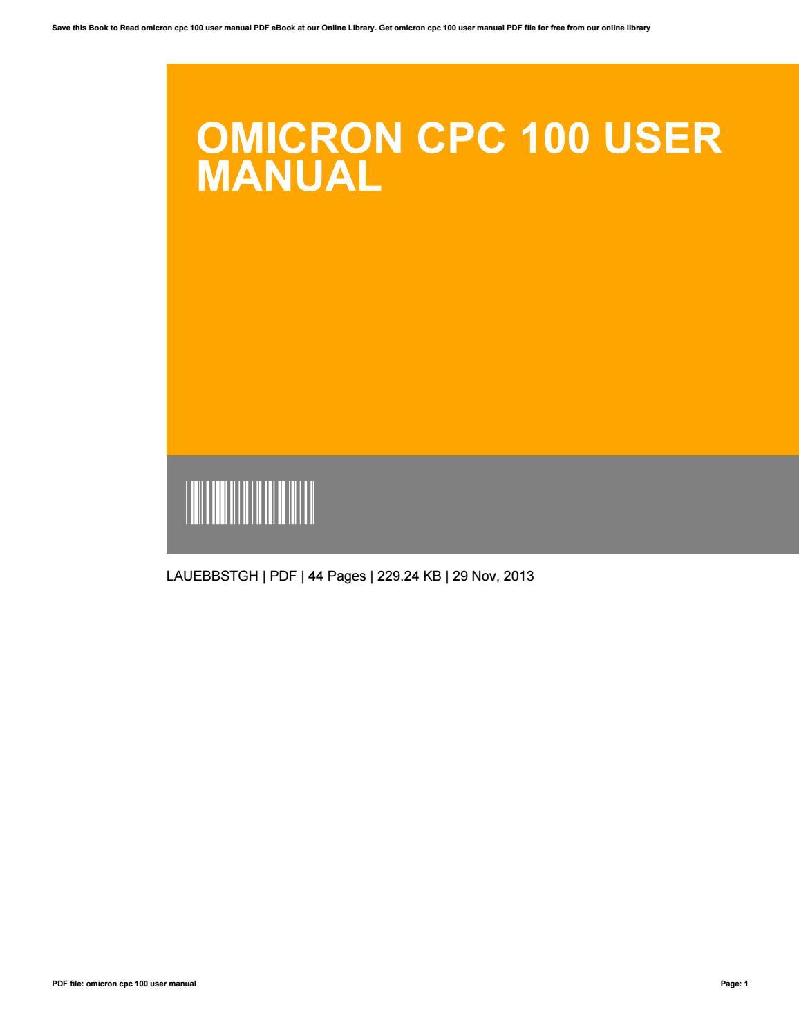 omicron cpc 100 user manual pdf