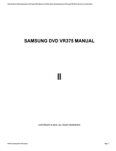 samsung vr375 manual