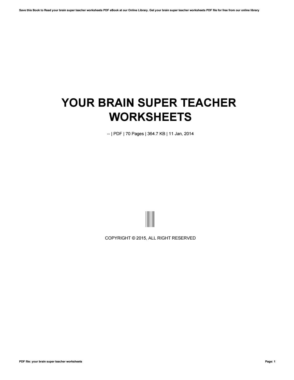 Your brain super teacher worksheets by crymail278 - issuu