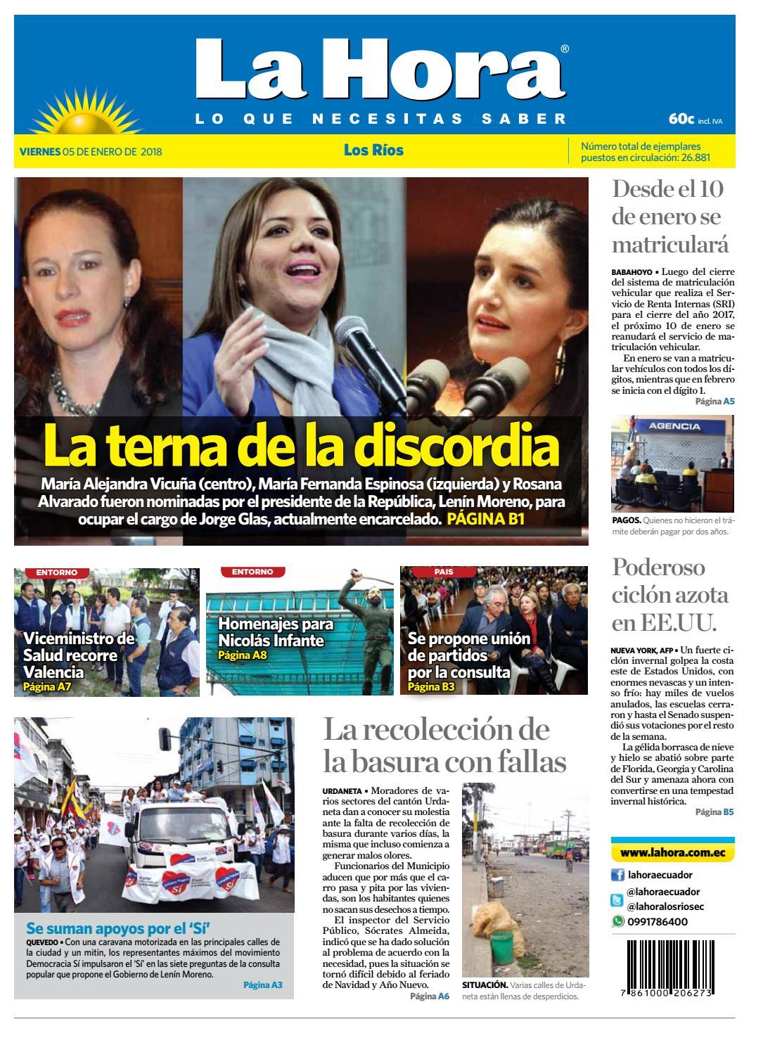 Los Ríos 05 de enero de 2018 by Diario La Hora Ecuador - issuu