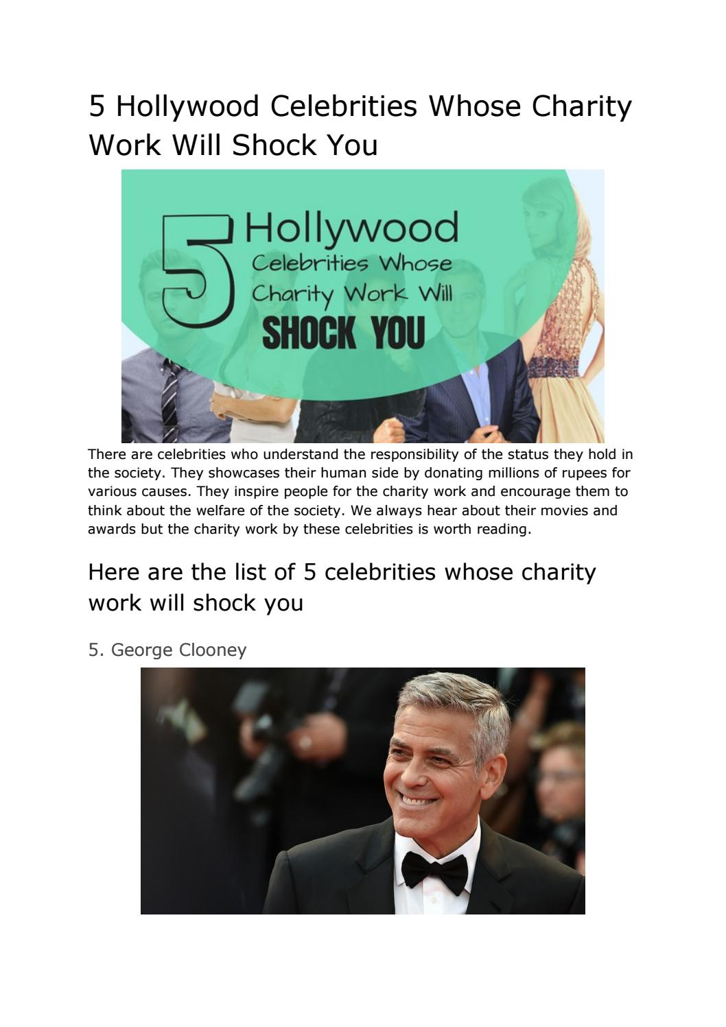 5 hollywood celebrities whose charity work will shock you by