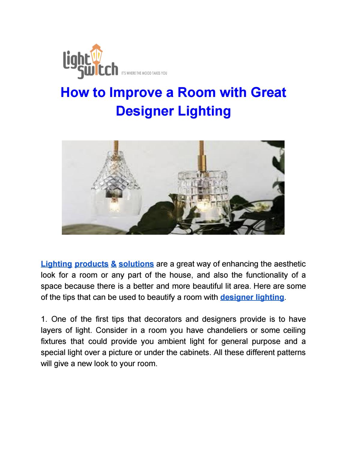 Designer Lighting By Graeme Clarke