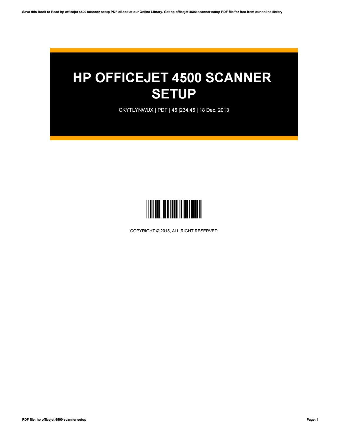 hp officejet 4500 desktop driver mac