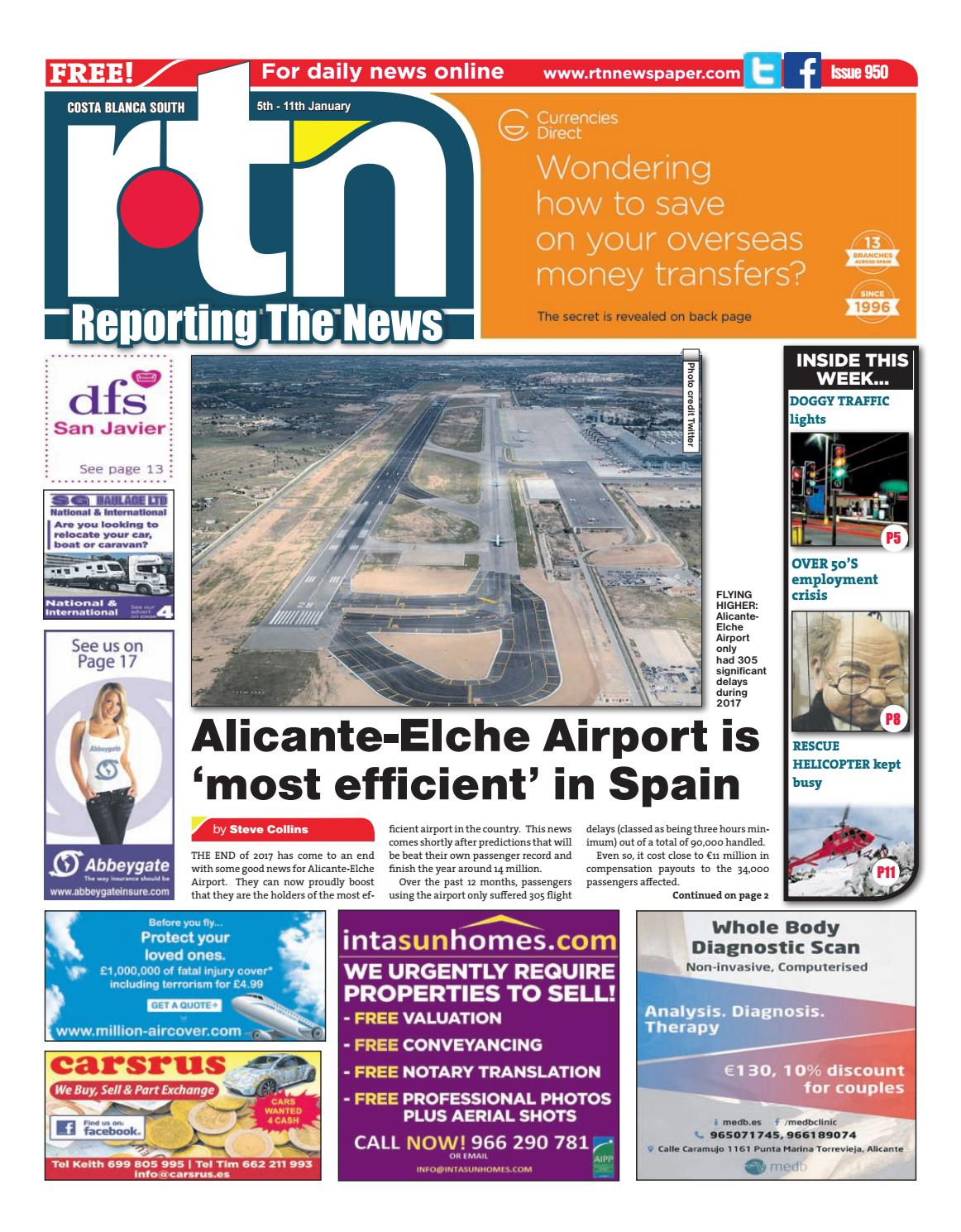 Rtn Newspaper Costa Blanca South 5 11 January 2018 Issue 950  # Muebles Vibbo Malaga