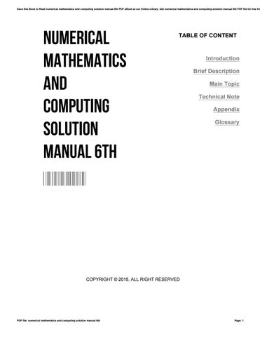 Numerical mathematics and computing solution manual 6th by muimail24 save this book to read numerical mathematics and computing solution manual 6th pdf ebook at our online library get numerical mathematics and computing fandeluxe Image collections