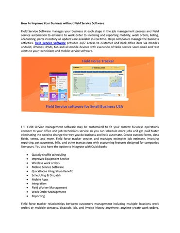 How To Improve Your Business Without Field Service Software By - Create invoice software for service business