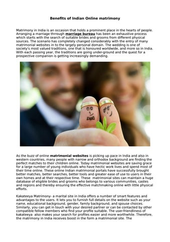 Benefits of indian online matrimony by swathi reddy - issuu
