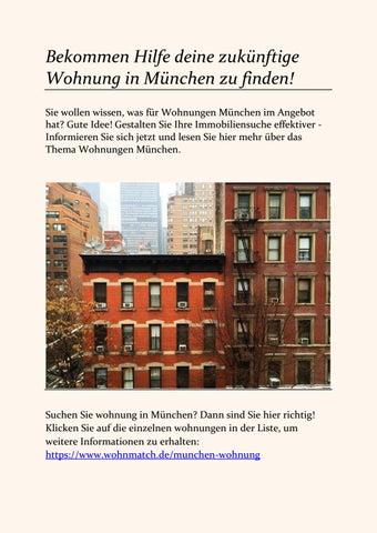 Bekommen Hilfe Deine Zukünftige Wohnung In München Zu Finden By