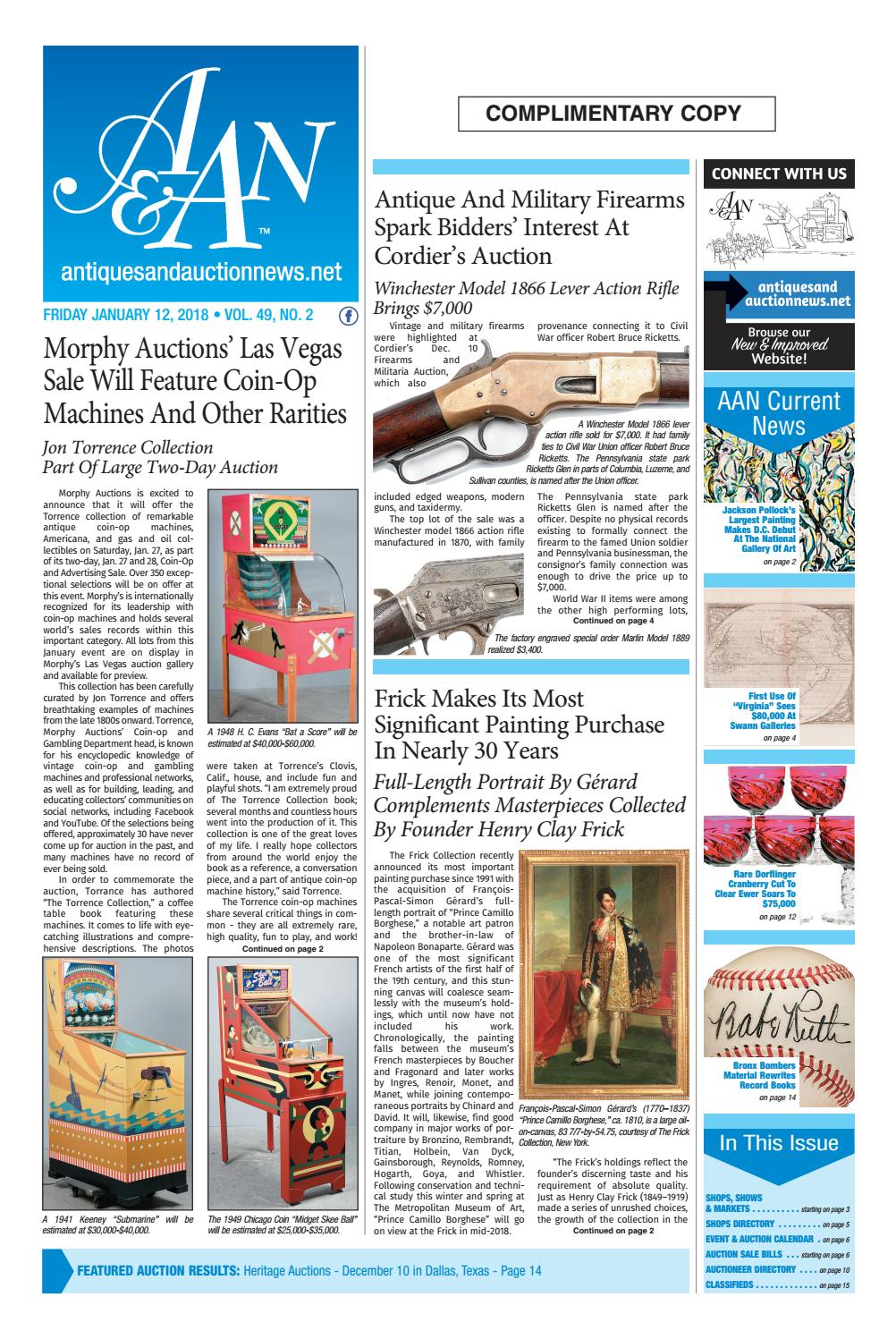 1059b3699e23 Antiques & Auction News 011218 by Antiques & Auction News - issuu