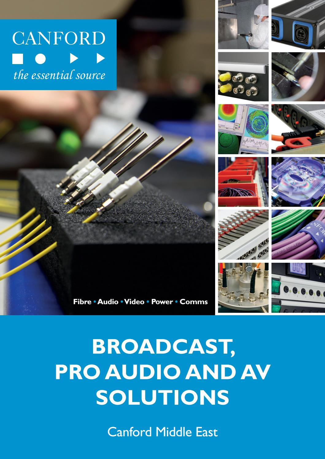 Cabsat 2018 Brochure By Canford Audio Issuu Dress Wires A V Installation Patch Panel To Switch On Rack