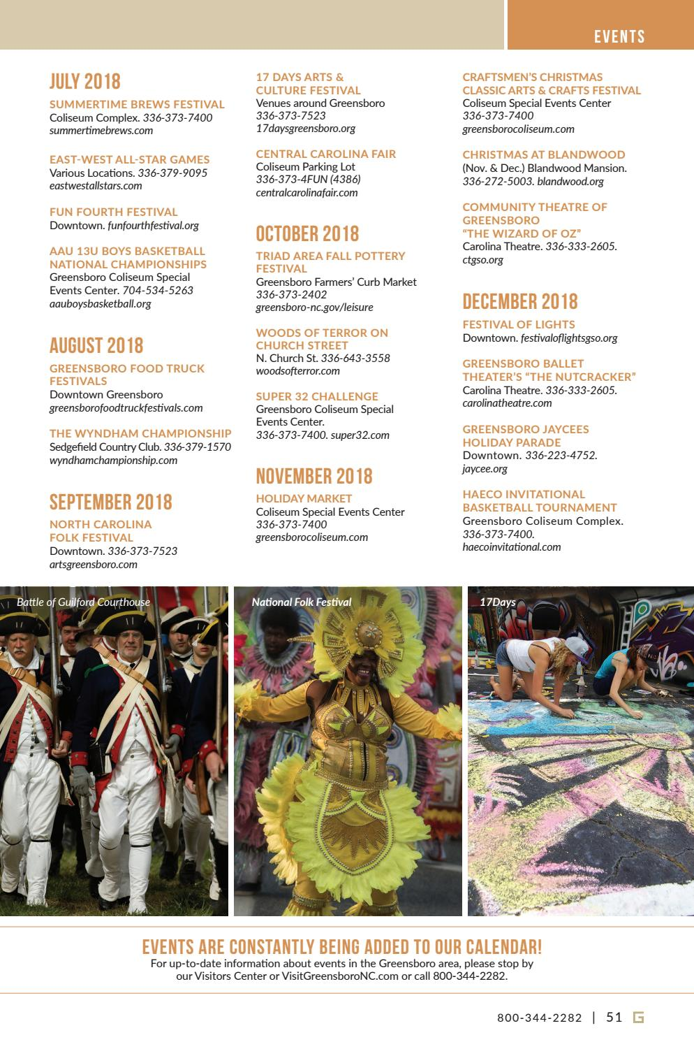 Greensboro Visitors Guide 2018 by Greensboro CVB - issuu