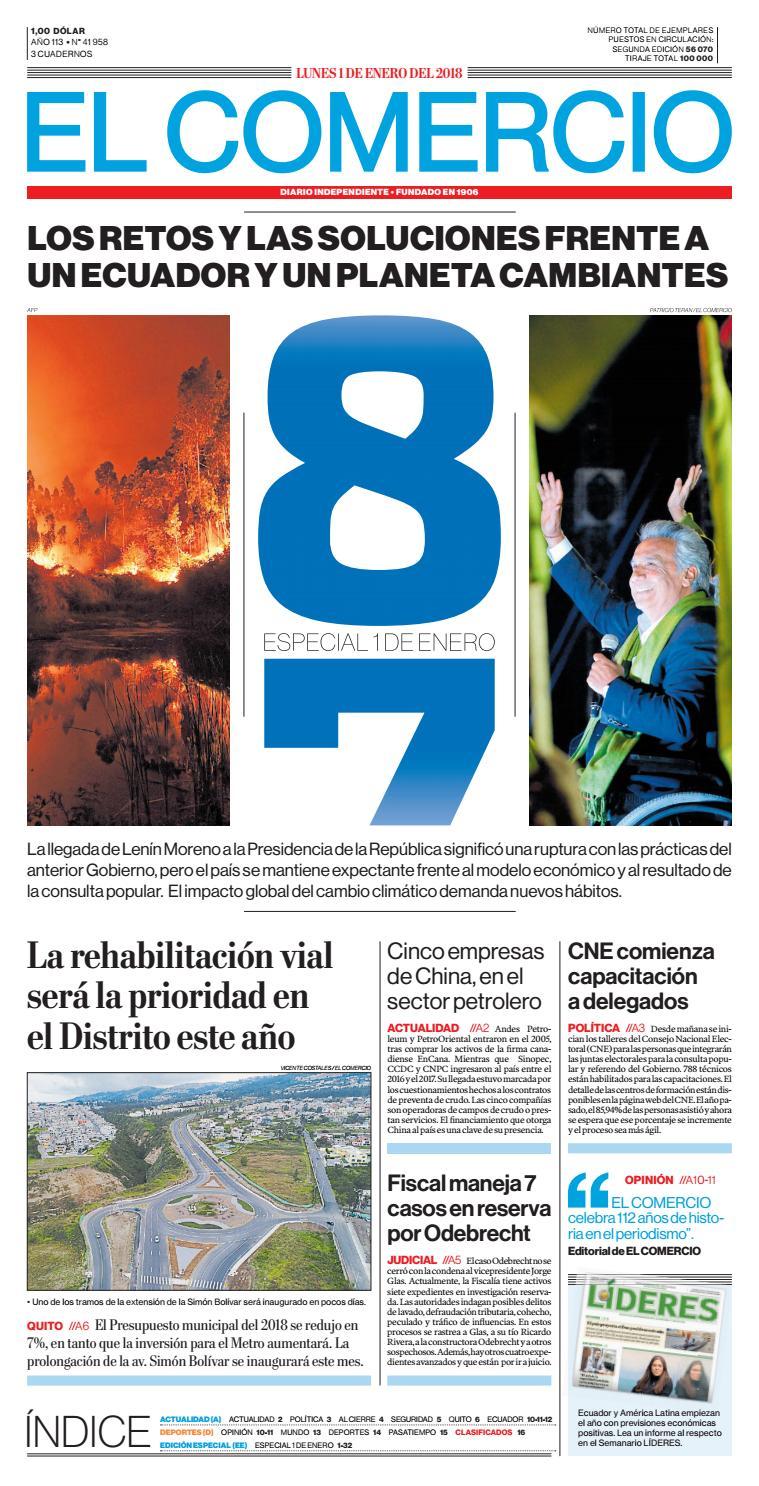 detailed look 73dae e501d Edición 1 Enero    EL COMERCIO by El Comercio - issuu