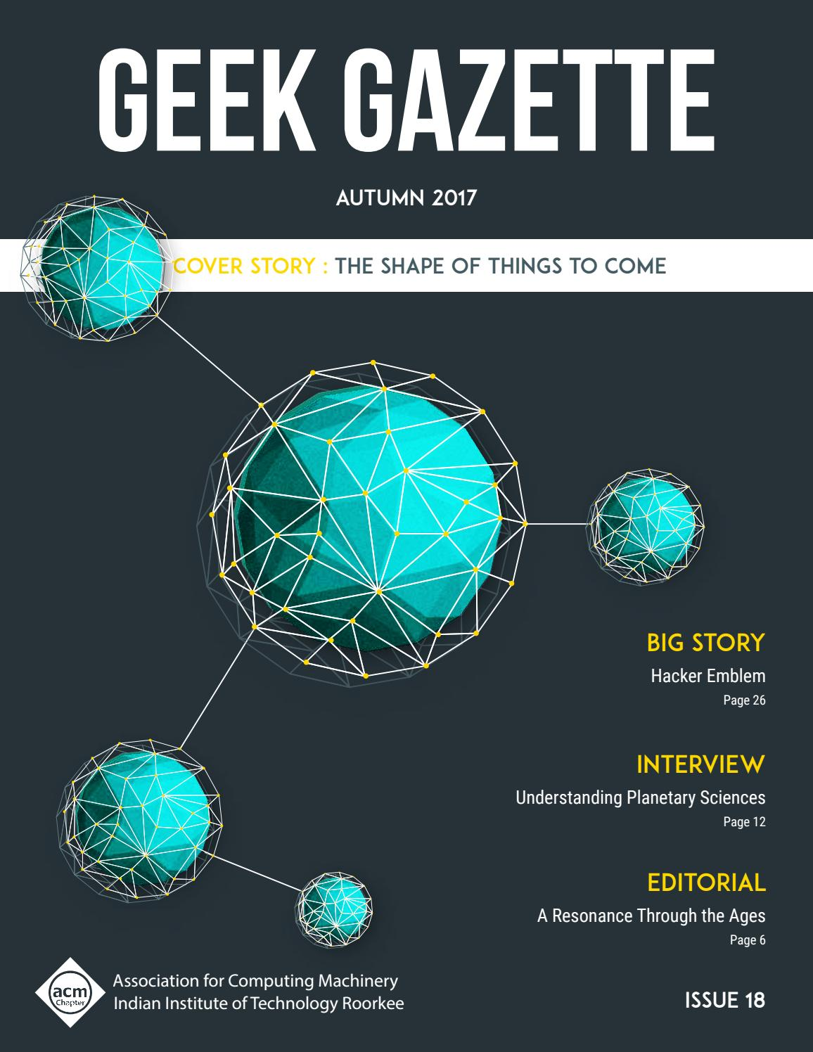 Geek Gazette Autumn 2017 by Geek Gazette - issuu