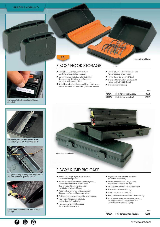 Haken Box FOX F Box Hook Storage Größe L und XL