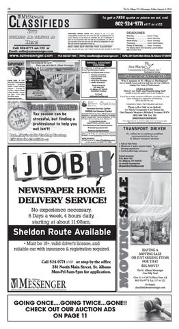 01/05/2018 Classifieds by St  Albans Messenger - issuu