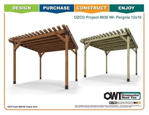 OZCO Project #830 - 12x10 Pergola (Ironwood) by OZCO Building