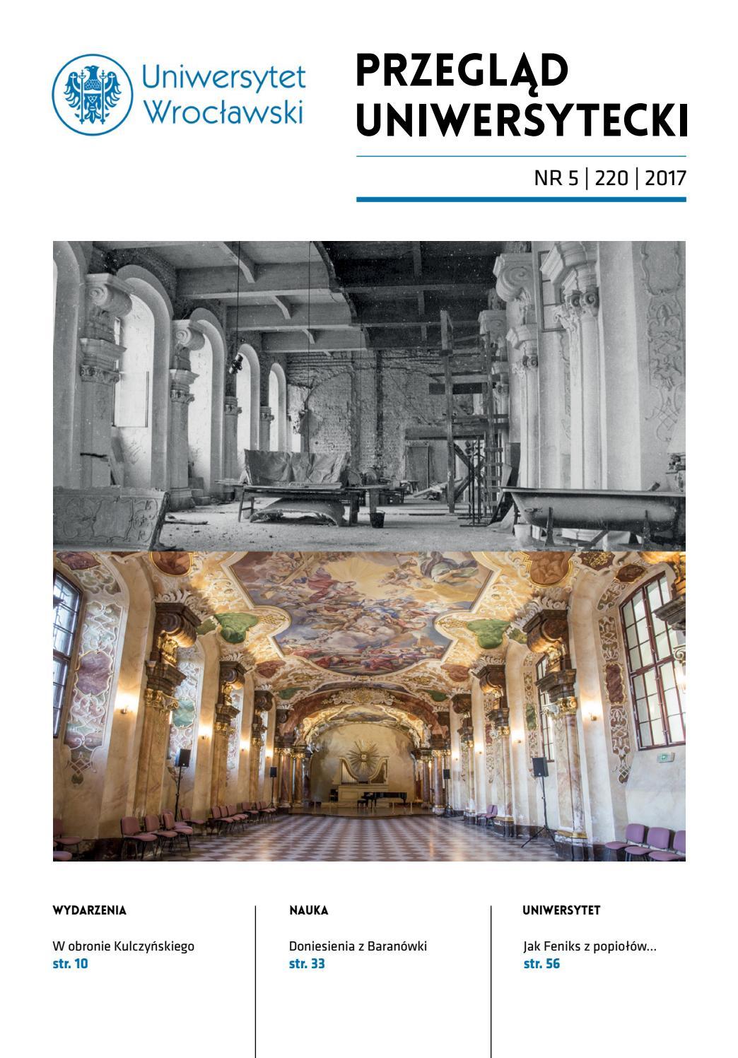 Przeglad Uniwersytecki Wroclaw R 23 Nr 5 220 2017 By Uniwersytet