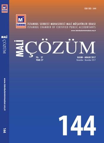 Mali çözüm 144 By Istanbul Smmm Odası Issuu