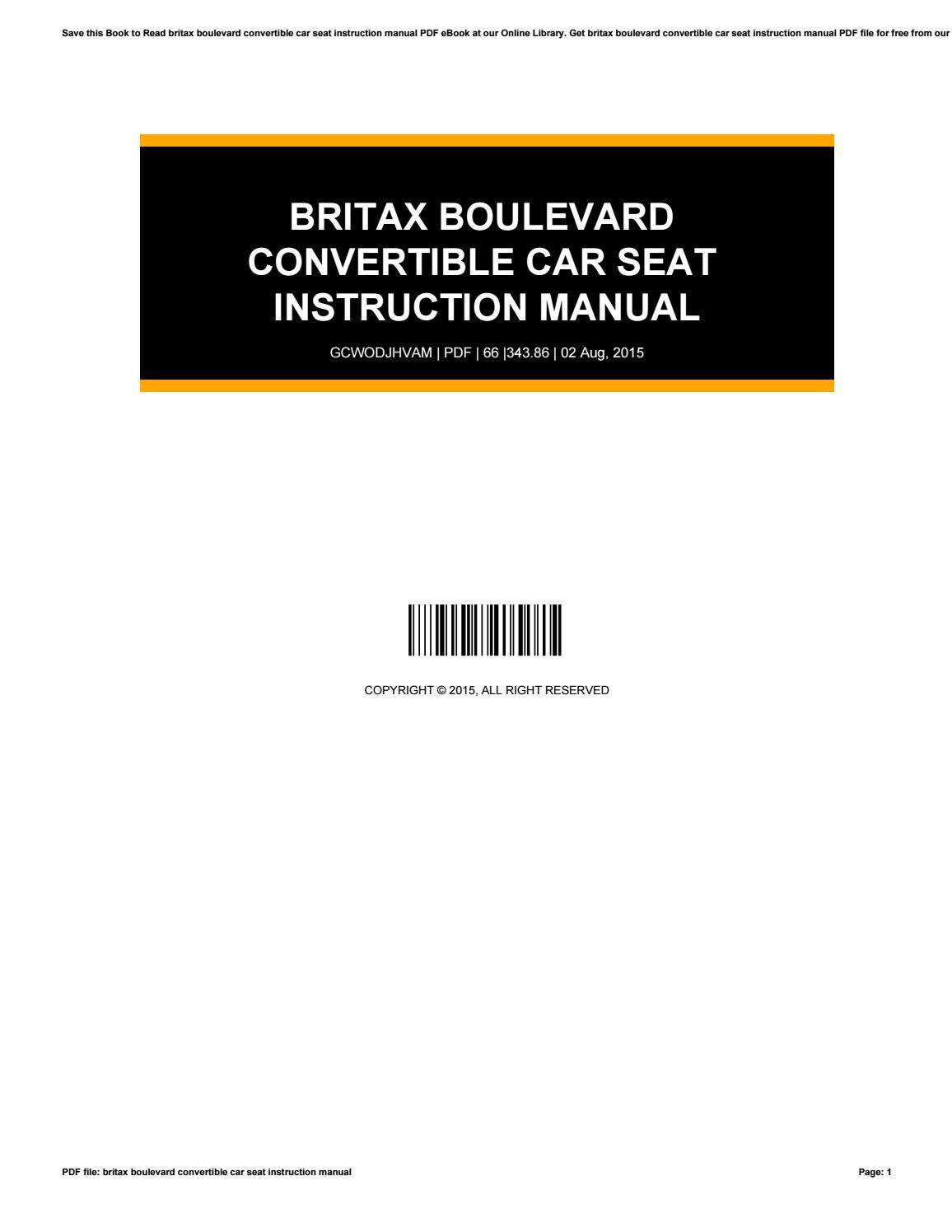 britax boulevard manual ebook