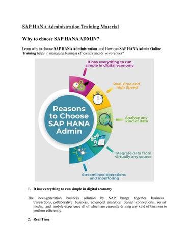 SAP HANA Administration PPT by amrutasapvits - issuu